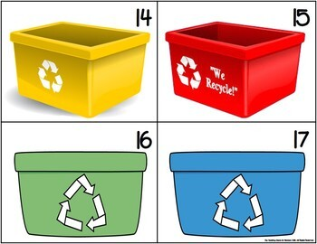 Earth Day Recycling Counting Game {FREE}