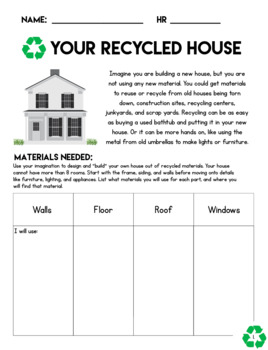 Earth Day Recycling House