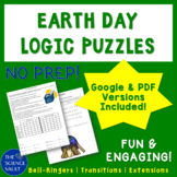 Earth Day Recycling Logic Puzzle Grades 6 - 9