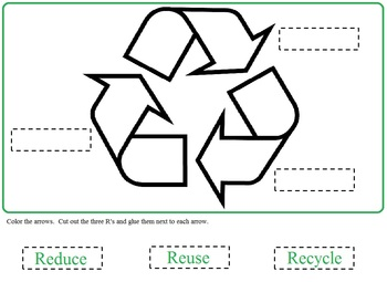 Earth Day Recycling:  Morning Bell Work, Worksheets, Cut a