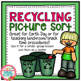 Earth Day Center Recycling Picture Sort - Whole Group Lesson / Center