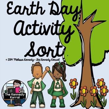 Earth Day Recycling Activity Sort {Anchor Charts, Mats, Ca