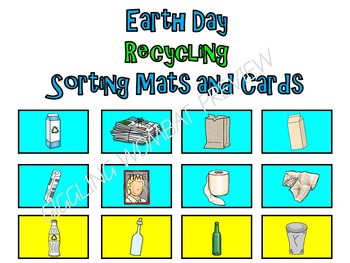 Earth Day Recycling Sorting Mats and Cards