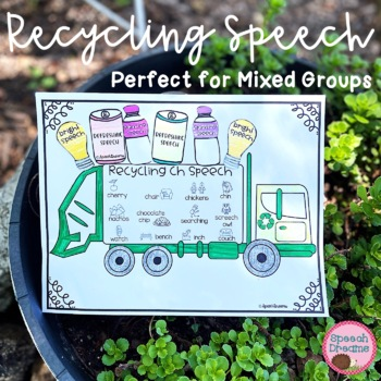 Earth Day Recycling Speech Therapy Cut and Paste Activity