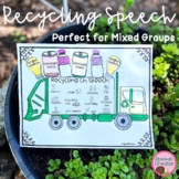 Earth Day Recycling Speech Therapy Cut and Paste Activity for Artic & Language