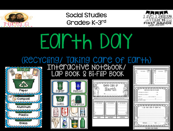 Earth Day Recycling/ Taking Care of Earth Layered Flip Book