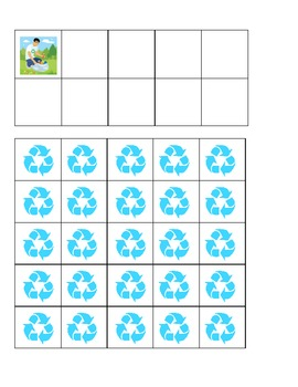 Earth Day Recycling Ten Frames Games