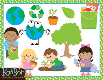 earth day recycling and environment clip art combo by kari bolt clip art. Black Bedroom Furniture Sets. Home Design Ideas