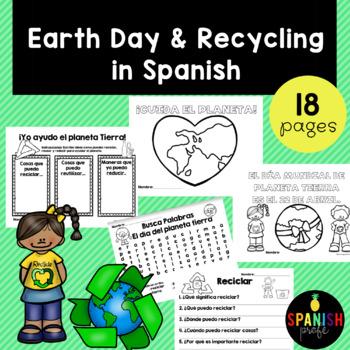 Earth Day & Recycling in Spanish (Actividades Dia de la tierra y reciclar)