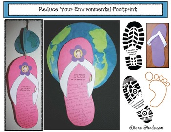 Earth Day: Reducing Your Environmental Footprint Writing Prompt Craftivity