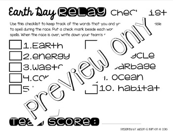 Earth Day Relay