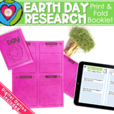 Earth Day Research Activity No Prep Fold and Go Resource