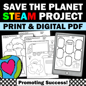 Printable Earth Day Distance Learning Packet STEM Project Based Learning