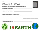 Earth Day Research and Record