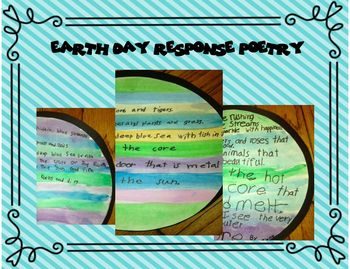 Earth Day Response Poetry and Craftivity