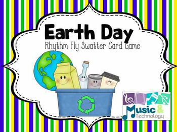 Earth Day Rhythm Fly Swatter Card Game