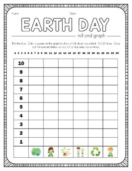 Earth Day Roll and Graph Activity