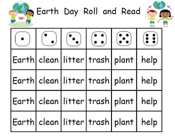 Earth Day Roll and Read