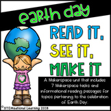 Earth Day STEM Makerspace Tasks and Reading Passages {Recycling and Pollution}