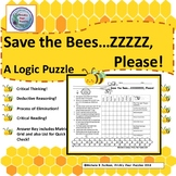Save The Bees, Science, Logic Puzzle, Centers, Early Finishers