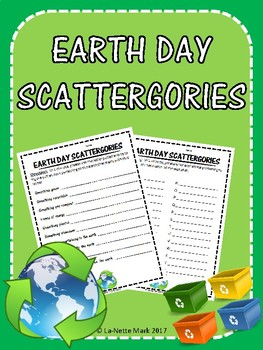Earth Day Scattergories