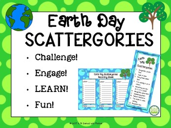 Earth Day Scattergories Game