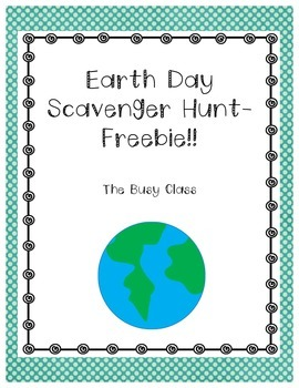 Earth Day: Scavenger Hunt Freebie!