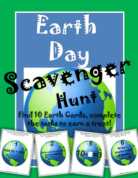 Earth Day Scavenger Hunt Math and Language Arts