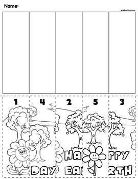 Earth Day Scene Number Sequence Puzzles