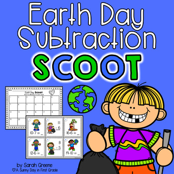 Earth Day Scoot! {subtraction to 20}