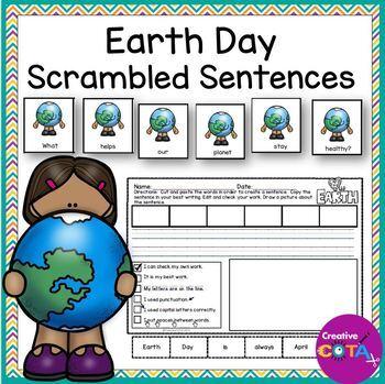 Earth Day Scrambled Sentence Writing