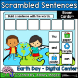 Earth Day Scrambled Sentences - Boom Cards - Digital Dista