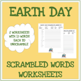 Earth Day - Scrambled words worksheets