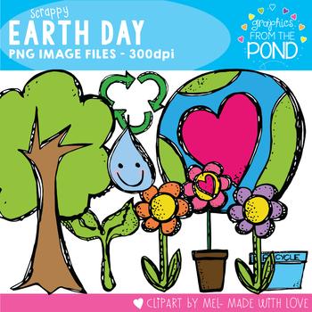 Earth Day Scrappy Clip Art