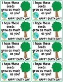 Earth Day Seed, (Vegetable, Fruit, Flower) Packet Gift Labels
