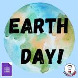 Earth Day Self-Grading Google Form Digital Quiz 4th-5th Grade