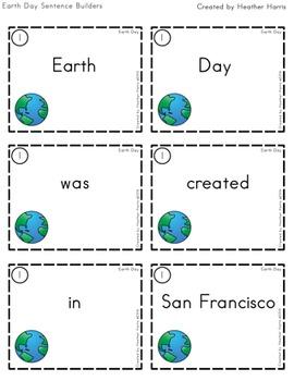 Earth Day Sentence Builders