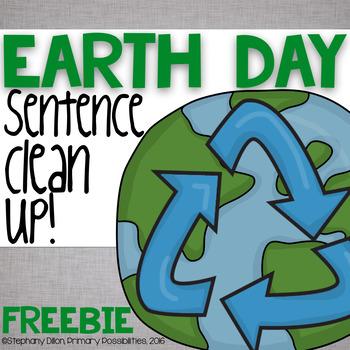 Earth Day Sentence Editing Freebie