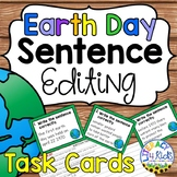 Earth Day Sentence Editing Task Cards