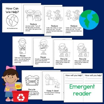 Earth Day Sentence Picture Match and Guided Reading Book
