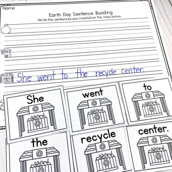 Earth Day Sentence Scrambles