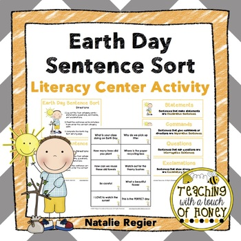 Earth Day Sentence Sort: Literacy Center Activity