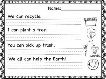 Earth Day Sentences