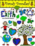 Earth Day Set 2 Clip Art by Dandy Doodles