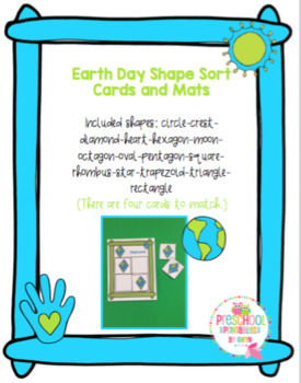Earth Day Shape Sort Cards and Mats