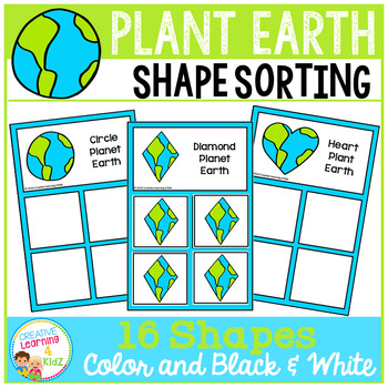 Shape Sorting Mats: Earth Day