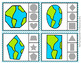 Earth Day Shapes Clip Cards
