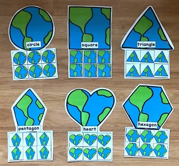 Earth Day Shapes Sorting Mats
