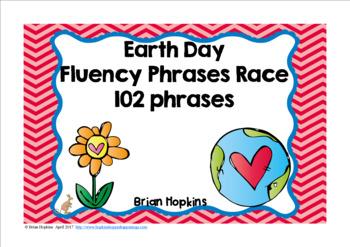 Earth Day Sight Word Fluency Phrases Race