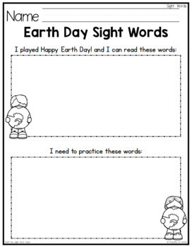 Earth Day Sight Words Game